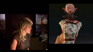 "Scottish actress Ashley Jensen is seen voicing Bryony the elf in ""Un-Wrapping 'Arthur Christmas.'"""