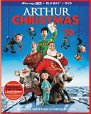 Arthur Christmas: Blu-ray 3D + Blu-ray + DVD + UltraViolet combo pack cover art -- click to buy from Amazon.com