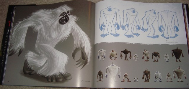 Concept art for Bigfoot and other yetis fills pages 68 and 69.
