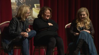 "Meryl Streep, Margo Martindale, and Abigail Breslin share a laugh in ""The Making of 'August: Osage County.'"""