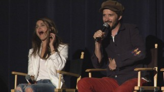 Bret McKenzie's entertaining superhero movie audition story has Keri Russell howling with laughter in the Cast Q & A.