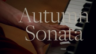 "Criterion's Blu-ray menu uses the more familiar English title ""Autumn Sonata"" over piano clips."