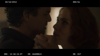 The romance between Hulk (Mark Ruffalo) and Black Widow (Scarlett Johansson) heats up in this extended scene.