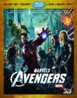 The Avengers Blu-ray 3D + Blu-ray + DVD + Digital Copy cover art -- click for larger view and to preorder from Amazon
