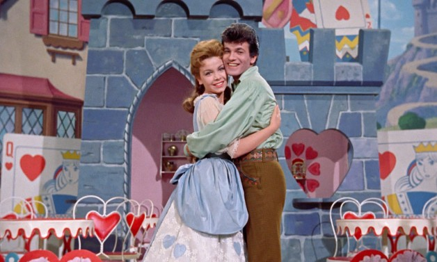 Future beach movie stars Annette Funicello and Tommy Sands play our boring romantic leads, Mary Contrary and Tom Piper.