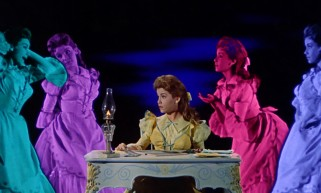 "In the musical number ""I Can't Do the Sum"", thinking about finances causes Mary Contrary (Annette Funicello) to multiply in an assortment of trippy colors."