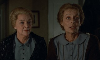 "Elderly spinsters Martine (Birgitte Federspiel) and Filippa (Bodil Kjer) reluctantly welcome a free cook into their modest residence in ""Babette's Feast."""