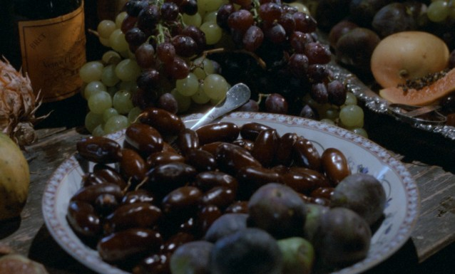 Babette's feast concludes with perfectly ripe fresh fruit unfamiliar to the Scandinavian diners.