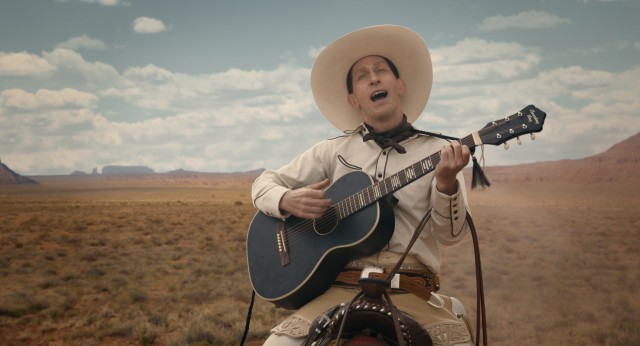"Tim Blake Nelson reunites with the Coen Brothers to play the titular gunslinger/troubadour of ""The Ballad of Buster scruggs."""