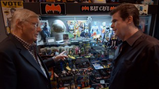 "Ralph Garman shows Adam West his extensive Batcollection in ""Holy Memorabilia, Batman!"""
