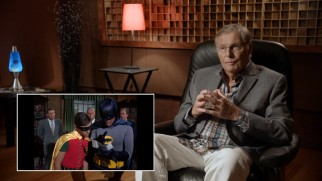 "Adam West occasionally interrupts the first two episodes of Batman with his script notes and thoughts in the bonus feature ""Inventing Batman: In the Words of Adam West."""