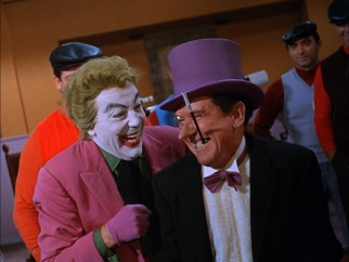 Batman's two most frequent nemeses, The Joker (Cesar Romero) and The Penguin (Burgess Meredith), team up for double trouble!