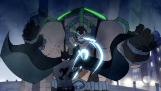 "Batman does battle with Bane in a DC Nation ""The Bat Man of Shanghai"" short."