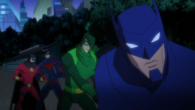 "The heroes of ""Batman Unlimited: Animal Instincts"" include Red Robin, Nightwing, Green Arrow, and, of course, Batman himself."