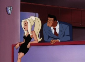 "Clark Kent investigates the abduction of a supermodel who isn't what she seems in ""Obsession"", a 1998 episode of ""Superman: The Animated Series."""