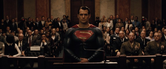 Superman (Henry Cavill) is invited to testify before a Senate committee, but never actually gets to do so.