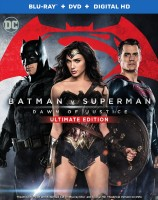 Batman v Superman: Dawn of Justice Ultimate Edition Blu-ray + DVD + Digital HD combo pack cover art - click to buy from Amazon.com