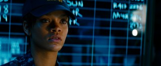 "Pop star Rihanna makes her acting debut in the role of tough gunner Cora ""Weps"" Raikes in ""Battleship."""