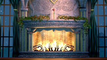 The Blu-ray version of Enchanted Environment gives you fewer options for customizing this animated fireplace scene.