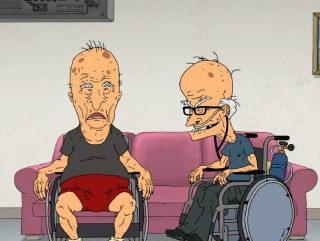 "Though Beavis and Butt-Head never age, ""Crying"" gives us a look at elderly retirement home versions of the character."