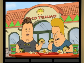 "Beavis and Butt-Head pack on the pounds with Mexican and other food in ""Supersize Me."""