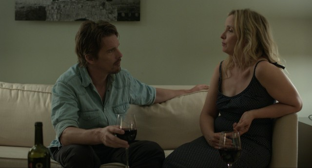 Things get chilly when Jesse (Ethan Hawke) and Celine (Julie Delpy) attempt to spend the night in a hotel suite their friends have bought for them.