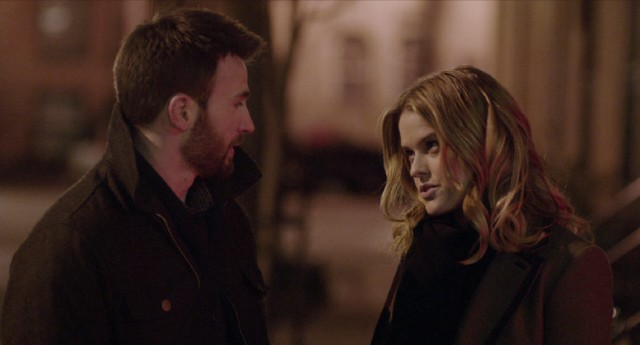 "Two strangers (Chris Evans and Alice Eve) spend an eventful night in New York City together in ""Before We Go."""