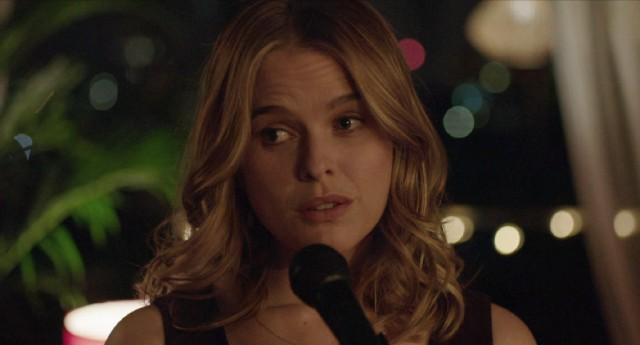 "Backed by Nick's trumpet, Brooke (Alice Eve) sings ""My Funny Valentine"" to a gathering she doesn't know."