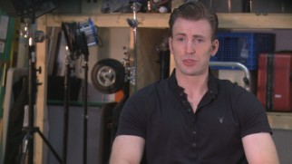 A clean-shaven Chris Evans discusses his first time in the director's chair.