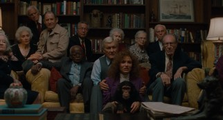 Lotte (Cameron Diaz), her chimp, and their new friends including Craig's boss Dr. Lester (Orson Bean) are mesmerized by a television special on the newly-redefined John Malkovich.