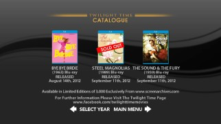 Twilight Time's catalogue reminds us that their limited print titles don't always remain available very long.