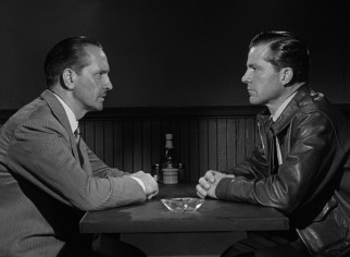 Al (Fredric March) and Fred (Dana Andrews) have a terse man-to-man talk about Fred's feelings for Al's daughter.