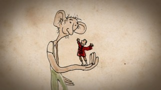 "The friendship of The BFG and the human bean he knew before Sophie is the subject of the illustration-animating short ""The Big Friendly Giant and Me."""