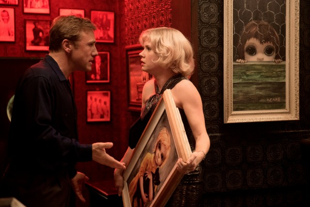 "In Tim Burton's ""Big Eyes"", Walter Keane (Christoph Waltz) takes credit for the doe-eyed waifs painted by his wife Margaret (Amy Adams)."