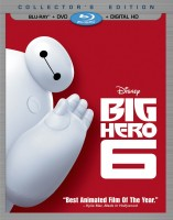 Big Hero 6: Blu-ray + DVD + Digital Copy combo pack cover art -- click to buy from Amazon.com