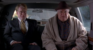 "Disabled millionaire ""The Big"" Lebowski (David Huddleston) and his obsequious assistant Brandt (Philip Seymour Hoffman) hire The Dude as courier."