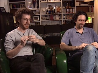 "In a seemingly calculated bit of oddness, writers Ethan and Joel Coen pick at their fingernails throughout ""The Making of 'The Big Lebowski'."""