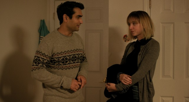 "In ""The Big Sick"", stand-up comic/Uber driver Kumail Nanjiani (Kumail Nanjiani) begins dating Emily Gordon (Zoe Kazan)."