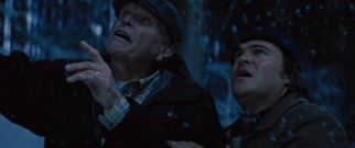 Raymond (Brian Dennehy) and Brad (Jack Black) share a powerful father-son moment searching for an owl together one snowy night.