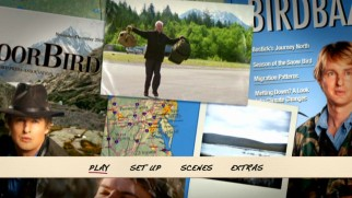 Clips, maps, stills, and Owen Wilson magazine covers adorn the Blu-ray and DVD menu.