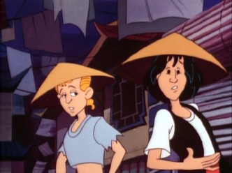 "Bill and Ted journey to ancient China in the premiere episode of the 1990 animated television series ""Bill & Ted's Excellent Adventures."""