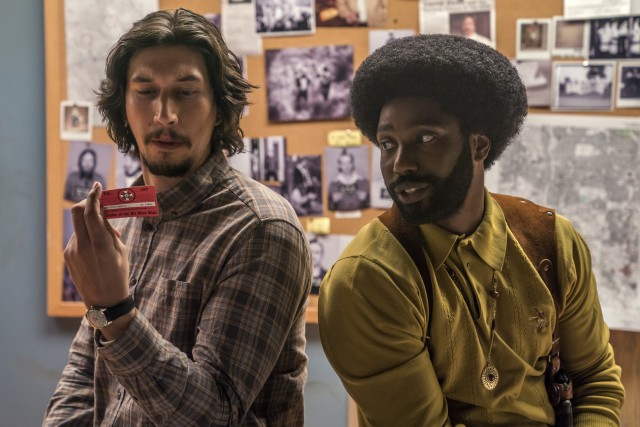 "In ""BlacKkKlansman"", two 1970s Colorado Springs police officers (Adam Driver and John David Washington) team up to infiltrate the local chapter of the Ku Klux Klan."