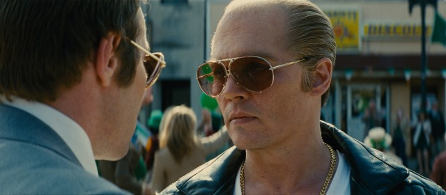 "In ""Black Mass"", Johnny Depp transforms himself to play notorious Boston mob boss Whitey Bulger."