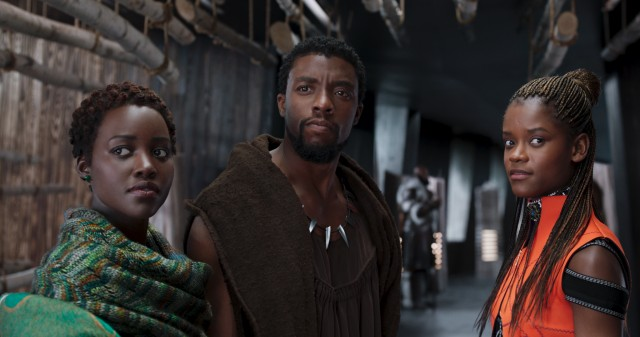 "Chadwick Boseman reprises his role of T'Challa in ""Black Panther"", where he is joined by the forgettable characters of Nakia (Lupita Nyong'o) and Shuri (Letitia Wright)."