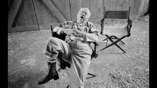 Mickey Rooney takes a probably staged snooze in one of Mary Ellen Mark's production stills.