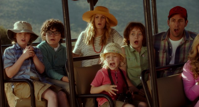 "In ""Blended"", the families of divorcee Lauren Reynolds (Drew Barrymore) and Jim Friedman (Adam Sandler) spend an unforgettable African vacation together."