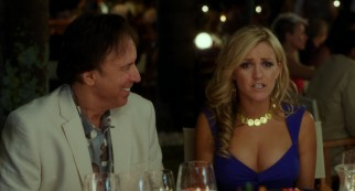 "Playing a man who has remarried someone less than half his age (Jessica Lowe), Kevin Nealon is one of the few friends of Adam Sandler to turn up in ""Blended."""