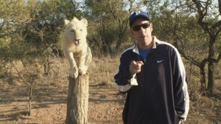 Adam Sandler gets to hang out with wildcats and other exotic animals.