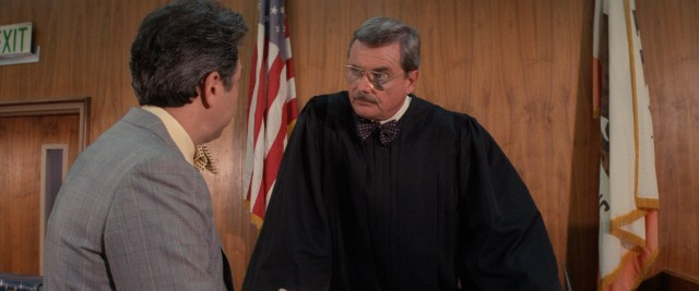 Judge Harold Bedford (William Daniels) reluctantly agrees to a deal with Walter's lawyer, his son (John Larroquette).