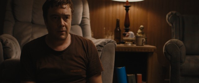 "A now clean-shaven Dwight Evans (Macon Blair) waits and hides in ""Blue Ruin."""
